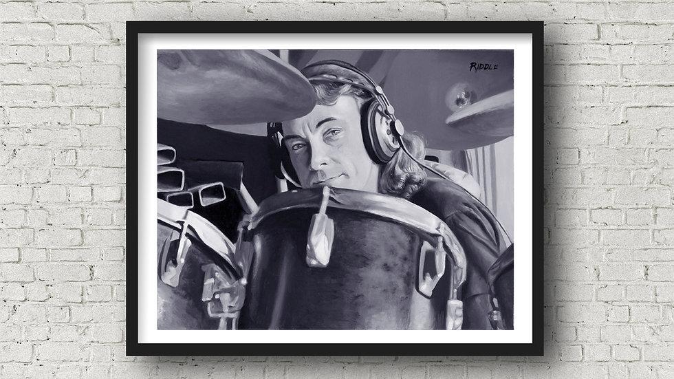 Neil Peart Drumming Legend of Rush Open Edition Giclée Fine Art Print