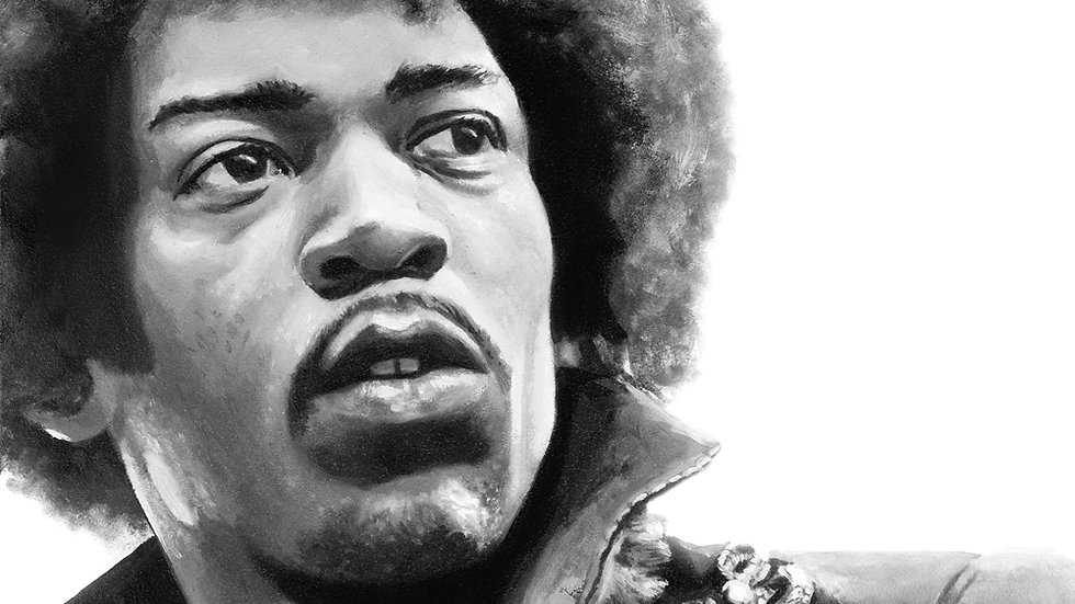 Jimi Hendrix Original Fine Art Oil Painting
