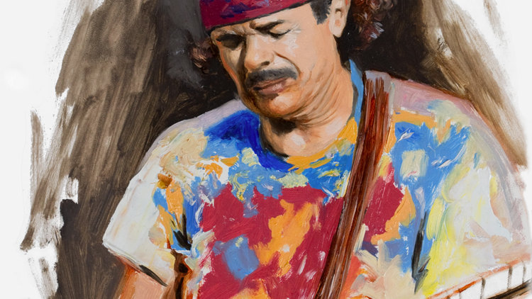 Carlos Santana Original Fine Art Oil Painting