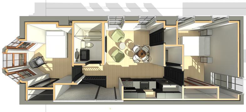 Chelten Ave Duplex - Second Floor Plan View