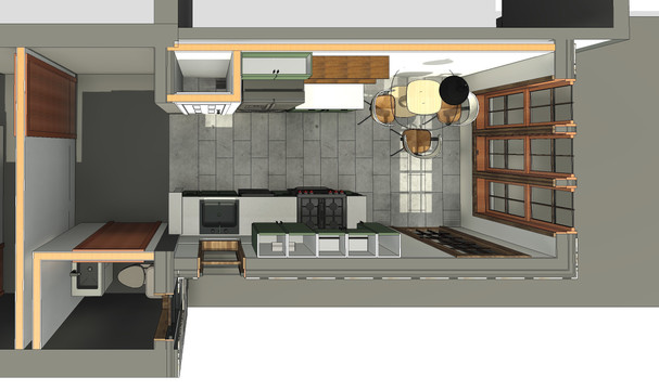 Emerald Street Addition - First Floor Plan View