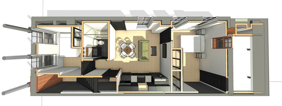 Chelten Ave Duplex - First Floor Plan View