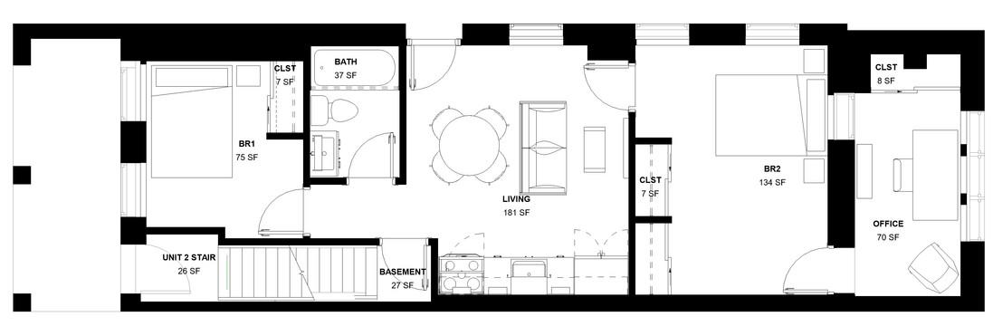 Chelten Ave Duplex - First Floor Plan