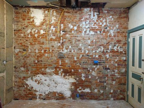 51st Street Twin - Kitchen wall in progress
