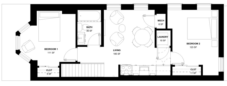 Chelten Ave Duplex - Second Floor Plan