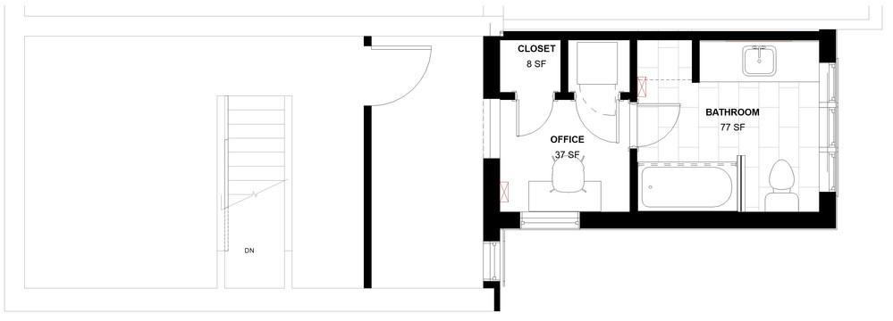 Emerald Street Addition - Second Floor Plan