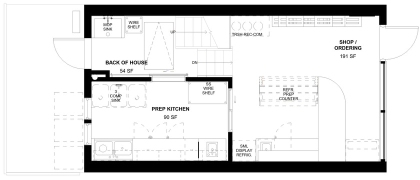 JuiceBox Café - First Floor Plan