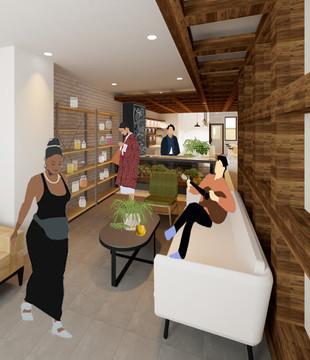 D.I.T.O Café Interior Perspective - Entry Lounge