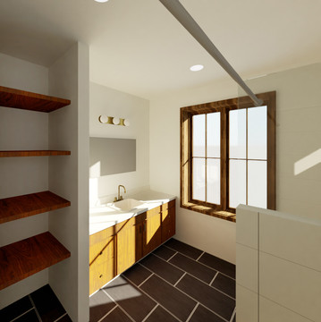 Emerald Street Addition - Second Flood Bathroom