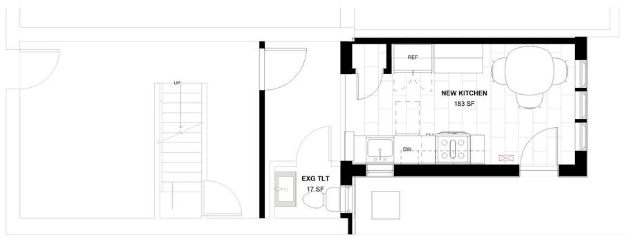Emerald Street Addition - First Floor Plan
