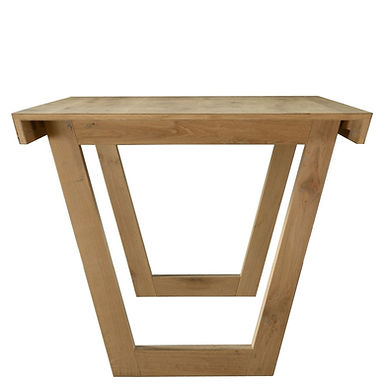Wood table oak natural