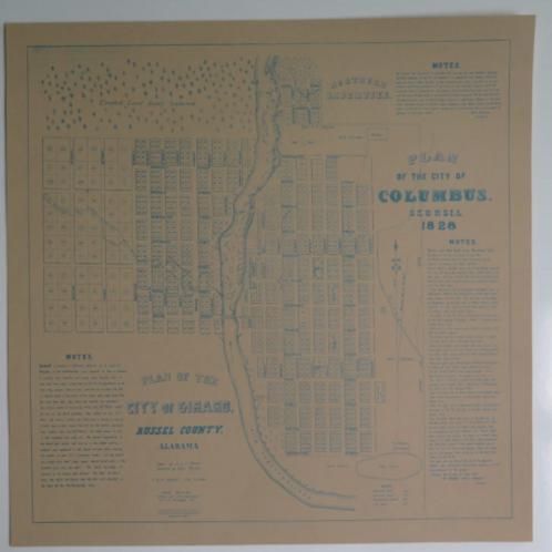 Columbus 1828 Map