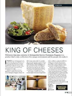 Print Advertising: Parmigiano Reggiano in Foodism Magazine, 2017