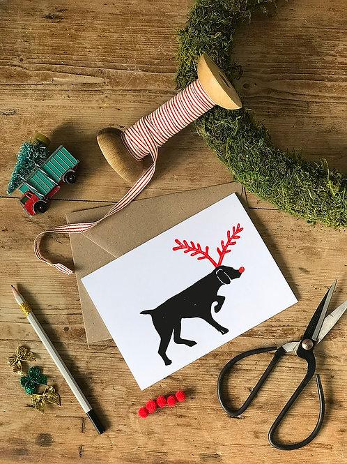 Pointer Christmas Card