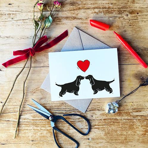 Cocker Spaniel Love Greeting Card