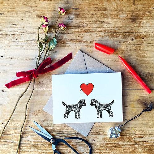 Border Terrier Love Greetings Card