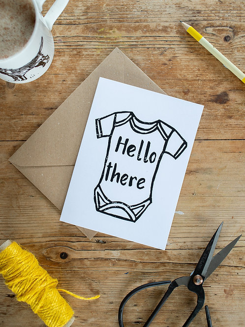 Hello There New Baby greeting card