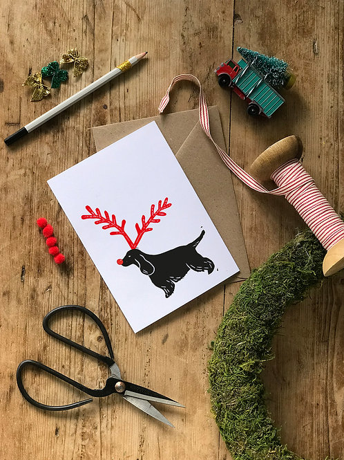 Five Cocker Spaniel Christmas Cards