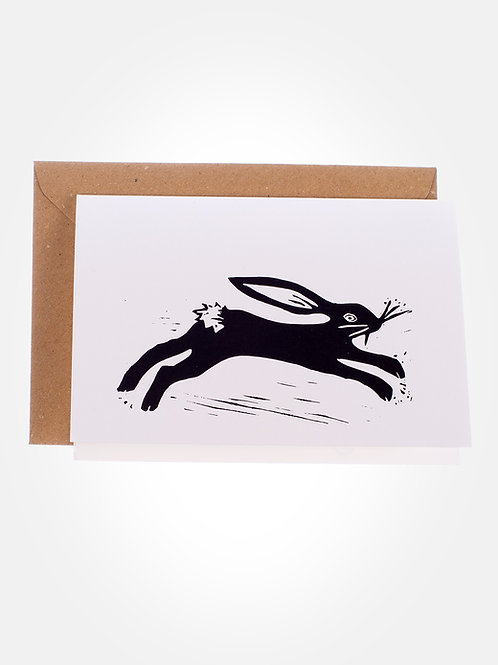 Blockprint hare