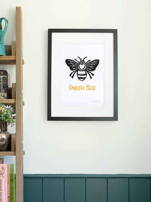 Queen Bee A4 Wall Art Print