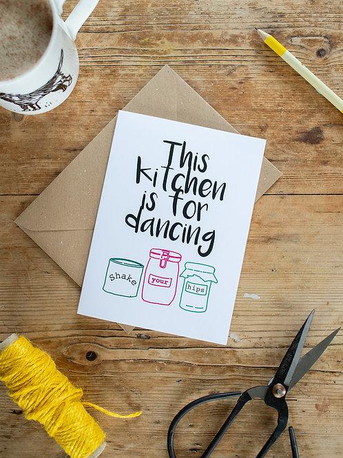 Kitchen Dancing Greeting Card