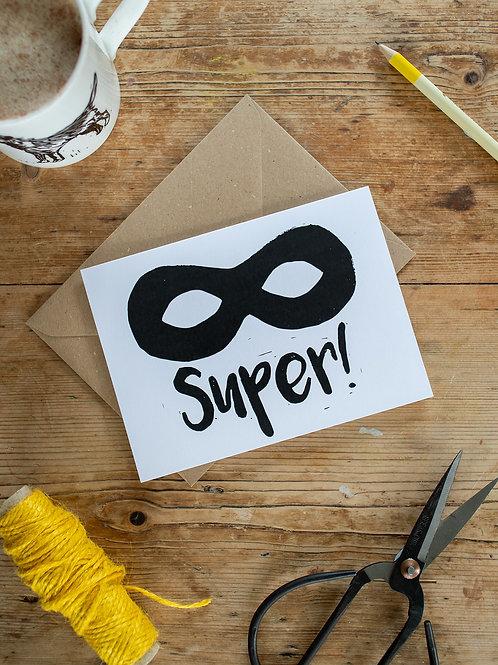 Super Hero Greeting Card