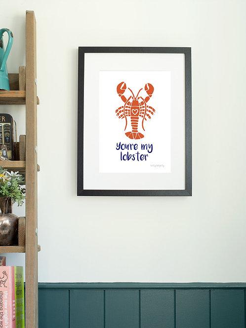 Lobster A4 Wall Art Print