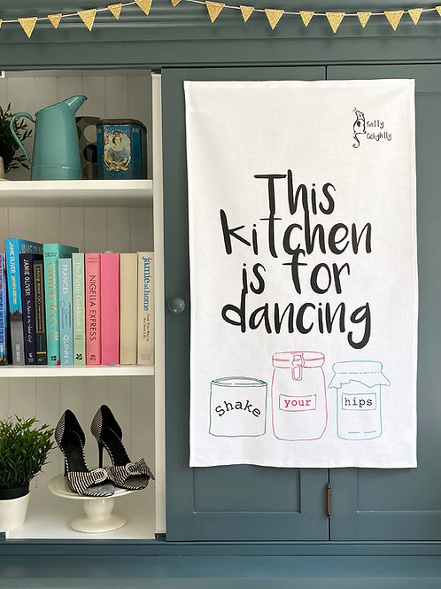 Kitchen Is For Dancing Tea Towel