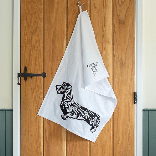 Wire Haired Dachshund Tea Towel