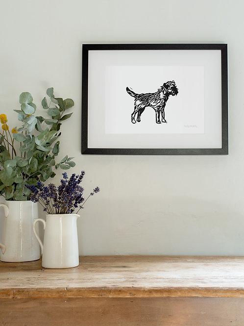 Border Terrier A4 Wall Art Print