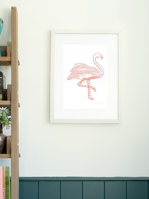 Flamingo A4 Wall Art Print