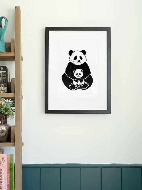 Panda A4 Wall Art Print