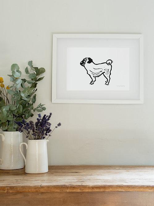 Pug A4 Wall Art Print