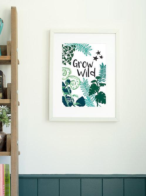 Grow Wild wall art