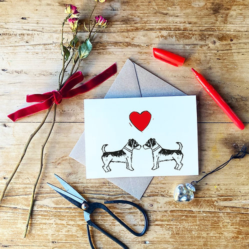 Jack Russell Love Greeting Card