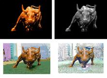 Charging Bull Print