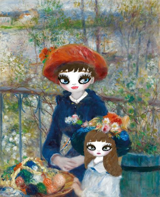 Two sisters – remastered (homage of Pierre-Auguste Renoir)