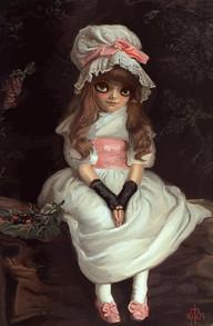 Cherry Ripe (homage of John Everett Millais)