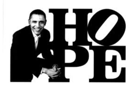 Obama HOPE (Black/White)