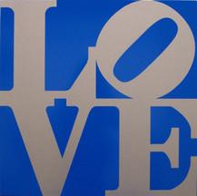 LOVE (Silver/Blue)