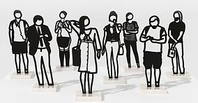 Julian Opie_Boston Statuettes (set of 8)
