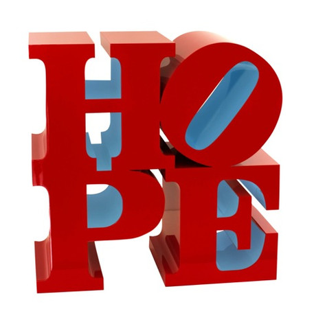 HOPE (Red/Light Blue)