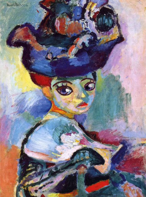 Woman with a hat (homage of Henri Matisse)