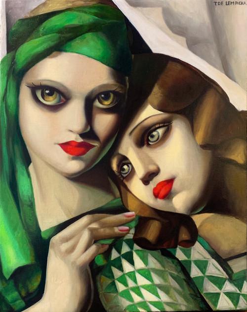 The Green Turban (homage of Lempicka)