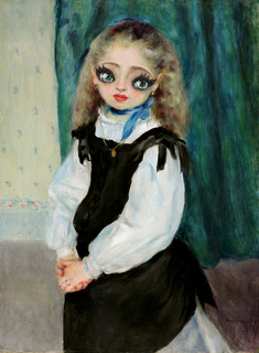Portrait of Mademoiselle Legrand (homage of Pierre-Auguste Renoir)