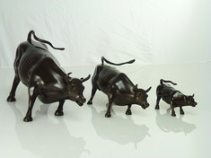 Charging Bull (Triptych)