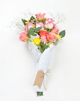 Coral Roses Bouquet