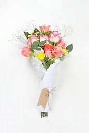 コーラルバラの花束