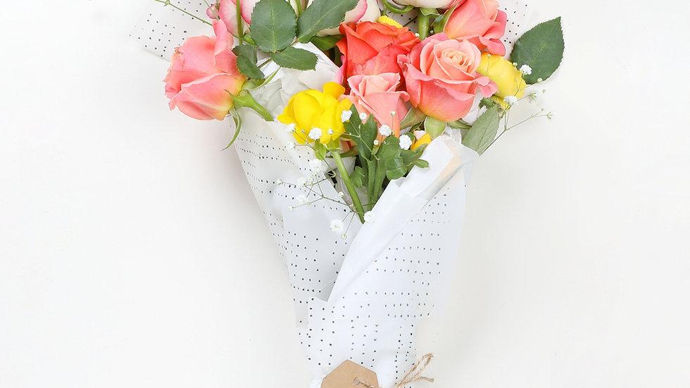 Blumenstrauss locker gebunden