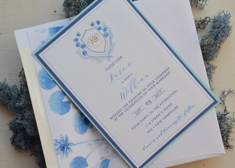 blue watercolor stationary.